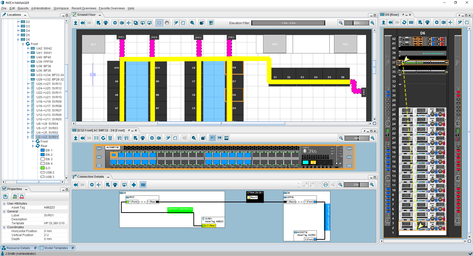 PATCH MANAGER data center connection tracing